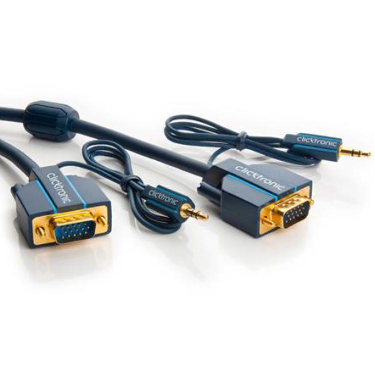 VGA Kabel - Met Audio - Professioneel 1 meter