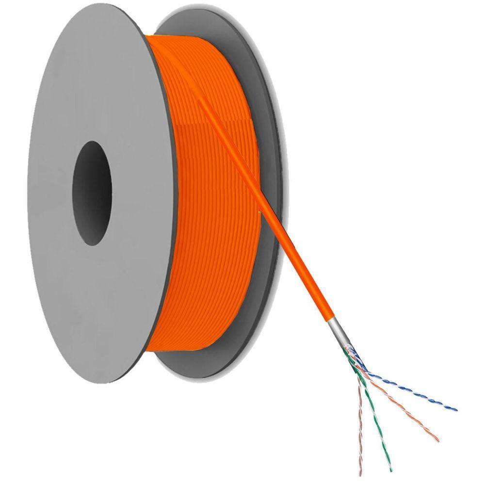 Image of Kabel op rol - Op rol: 100 meter - oranje - Goobay