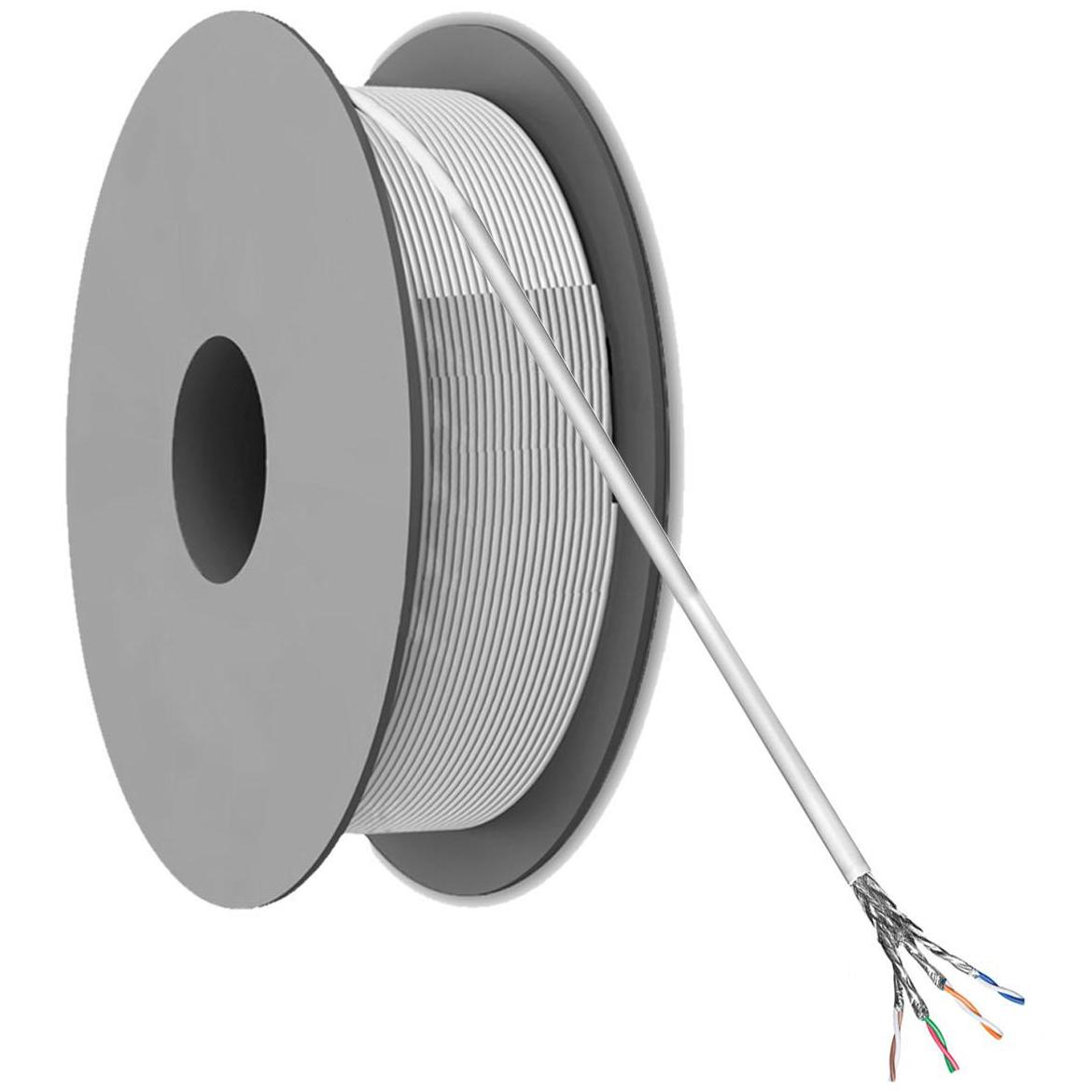 Cat 6a S/FTP netwerkkabel per rol