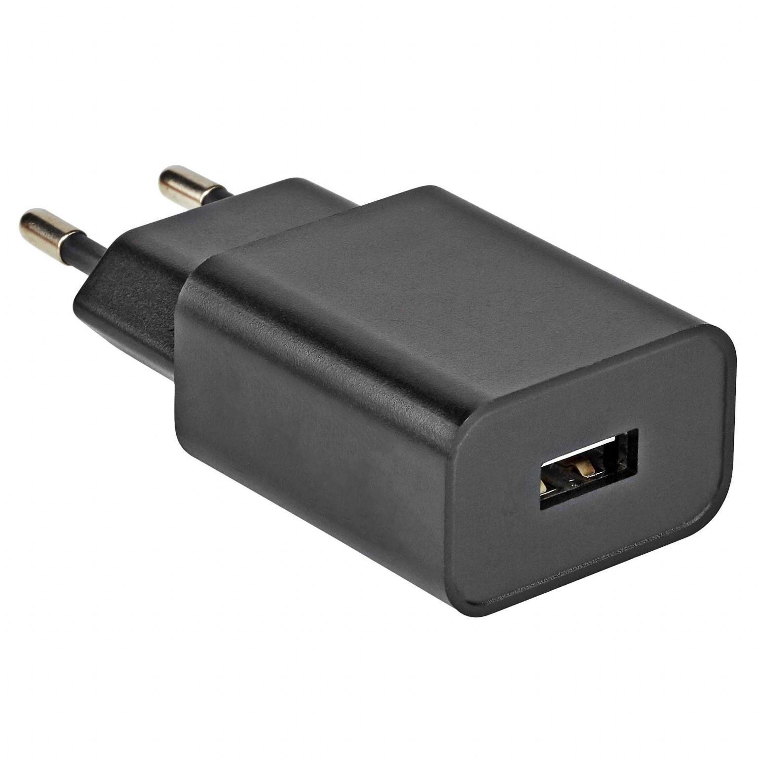USB Lader - Zwart Uitgaande Stroom: 1000 mA
