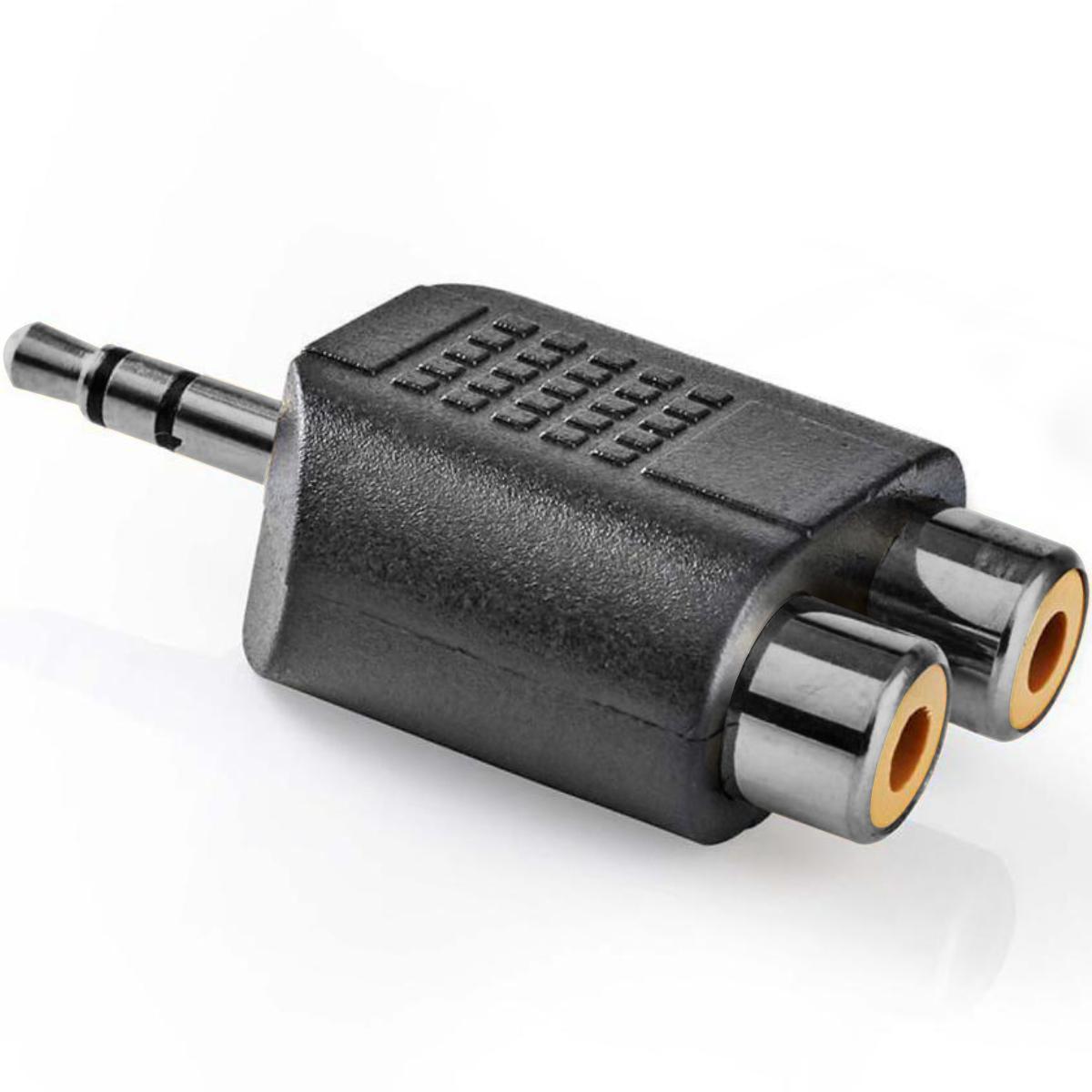 Tulp Verloopstekker Aansluiting 2: Stereo Jack 3.5mm Male
