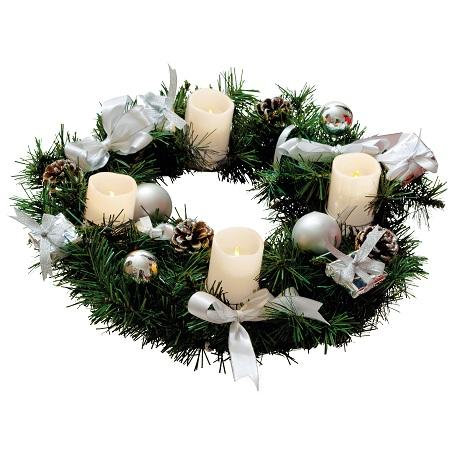 Image of Kerstkrans binnen - Zilver - Best Season