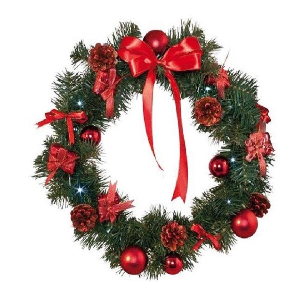 Image of Kerstkrans binnen - Rood - Best Season