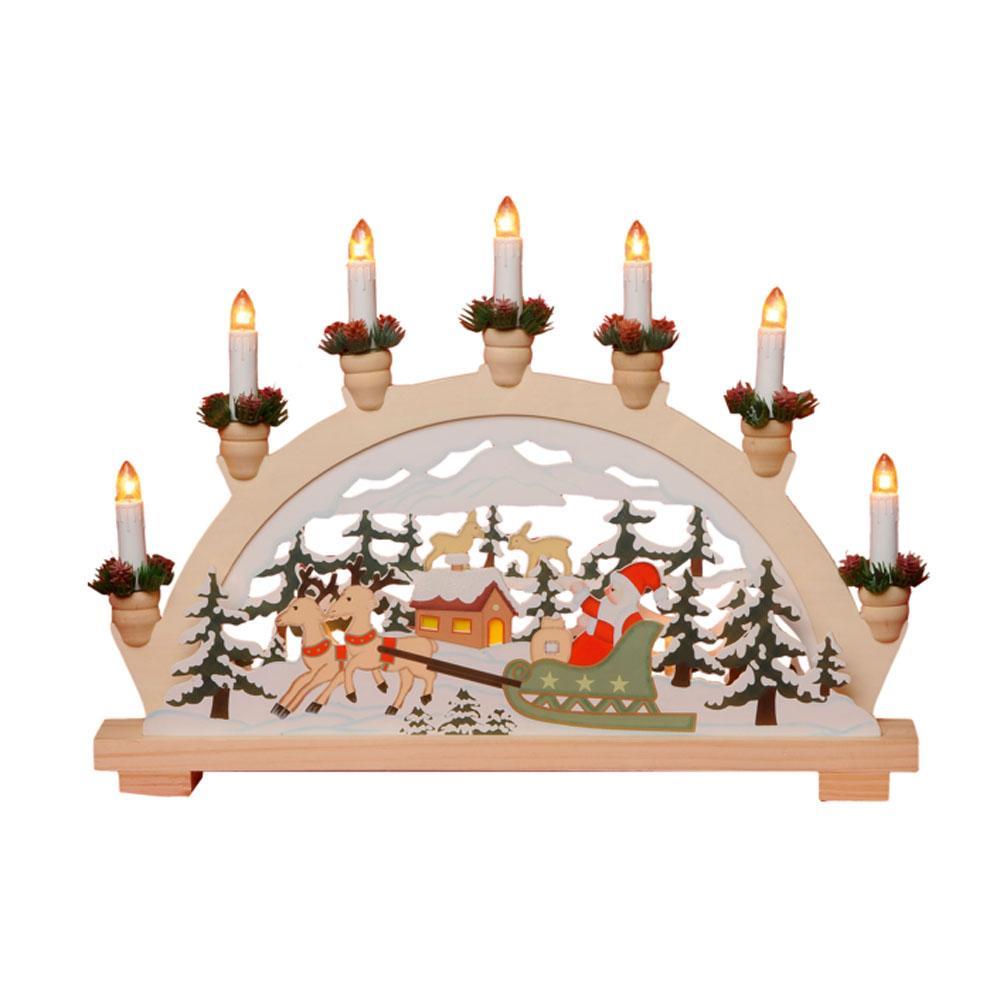 Kerst Kandelaar Afmeting: H33 x B45 cm