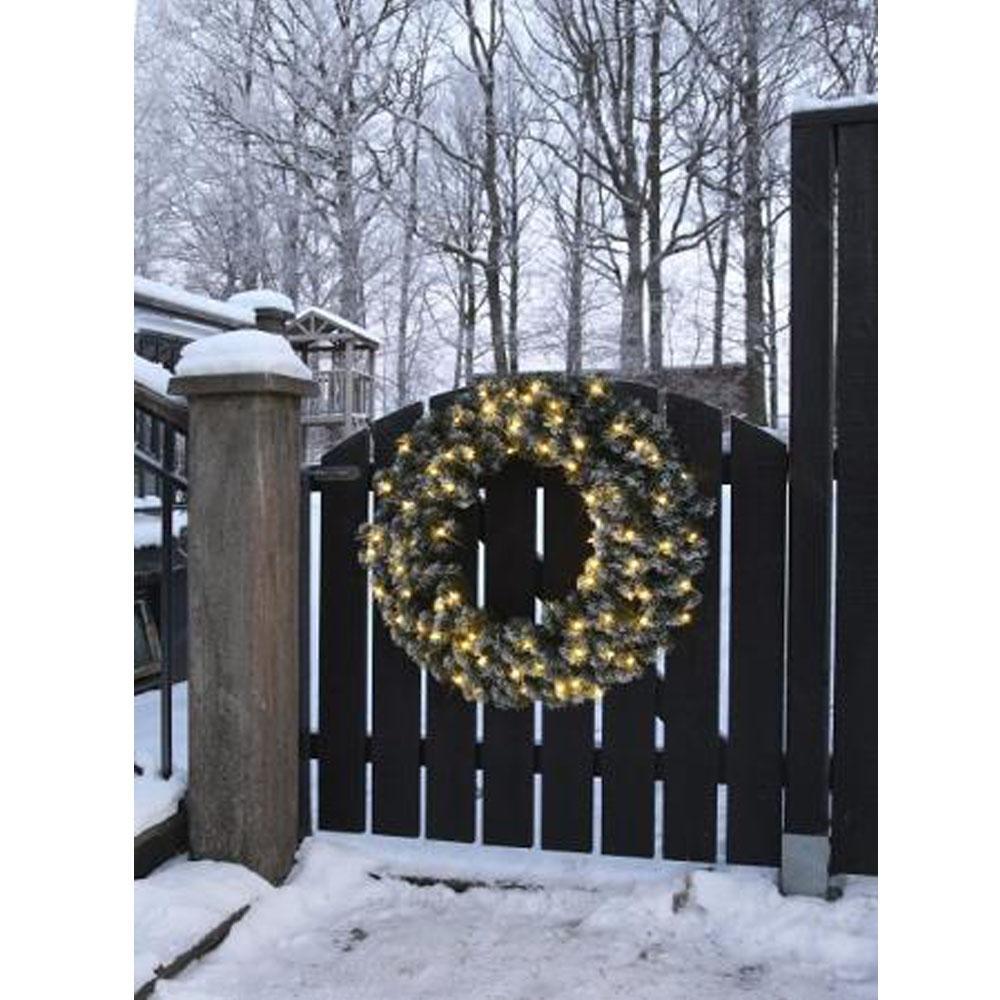 Kerstversiering - Kerstversiering - Krans, Verlichting: LED - Warm ...