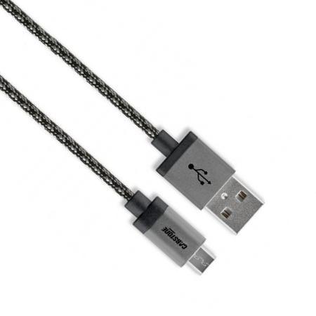 Image of Cabstone 43808 1m USB A Micro-USB B Grijs USB-kabel