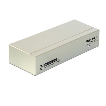 Image of 2 poorten VGA-splitter Delock 87654 2048 x 1536 pix Grijs