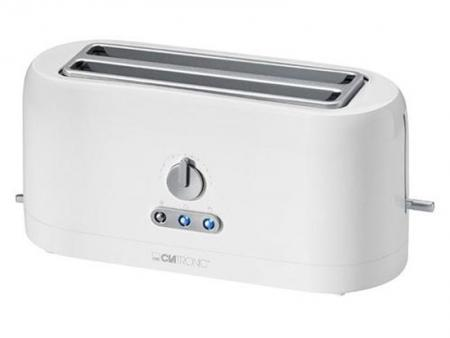 Image of Clatronic 4 slice long-slot Automatic toaster TA 3534 white - Clatroni