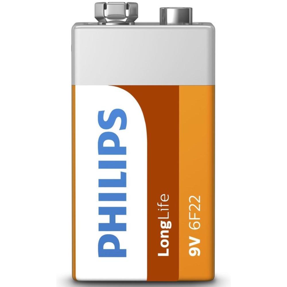 Battery Philips Longlife 9V bloc (1 pcs.) Philips
