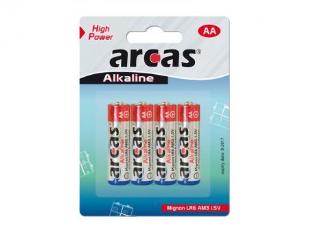 Image of Battery Arcas Alkaline Mignon AA (4 Pcs.) - Arcas