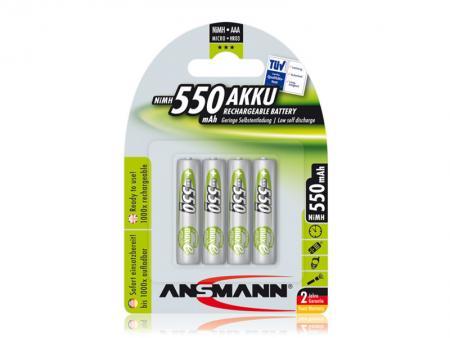 Image of 1x4 Ansmann Accu NiMH Micro AAA 550 mAh