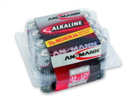 Image of 1x20 Ansmann Alkaline Mignon AA LR 6 red-line Box