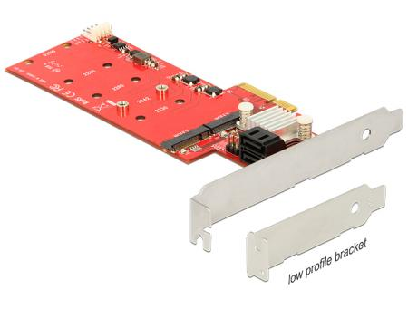 PCIe > 2x M.2 NGFF+ 2x SATA met Raid