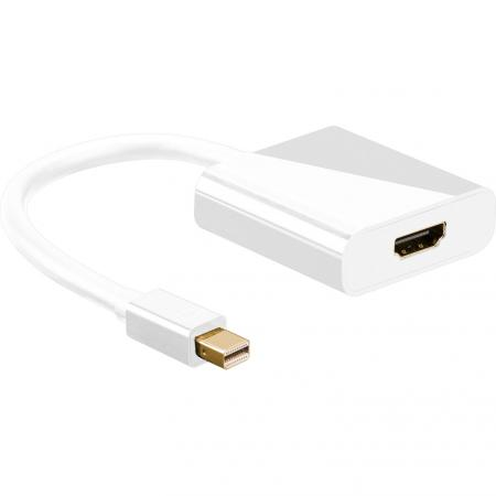 Goobay HDMI-DisplayPort Adapter [1x Mini-DisplayPort stekker => 1x HDMI-bus] Wit