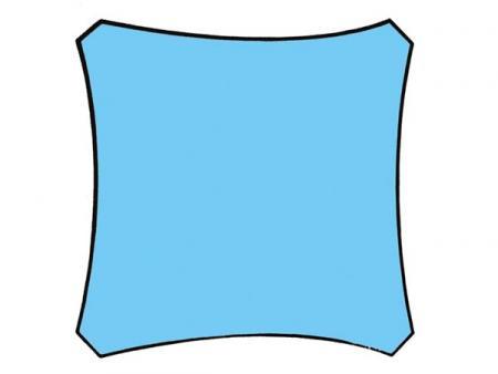 Zonnezeil vierkant 5 x 5 m kleur hemelsblauw dit zonnezeil is een effici nte en goedkope - Zonnezeil goedkope ...