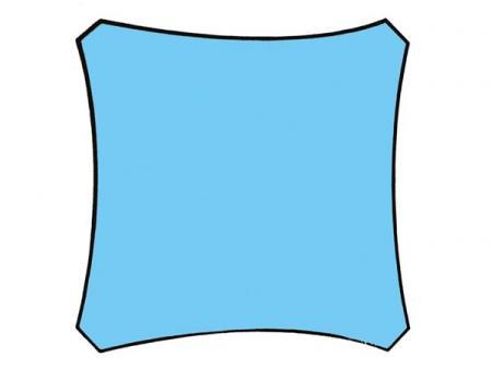 Zonnezeil vierkant 3 6 x 3 6 m kleur hemelsblauw dit zonnezeil is een effici nte en - Zonnezeil goedkope ...