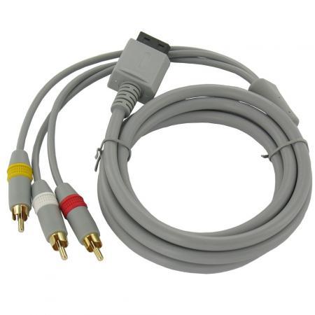 Wii-AV-Kabel mit 3 Cinch-Stecker Quality4All