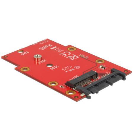 Image of 16-Polig Micro SATA naar M.2 NGFF adapter - Delock