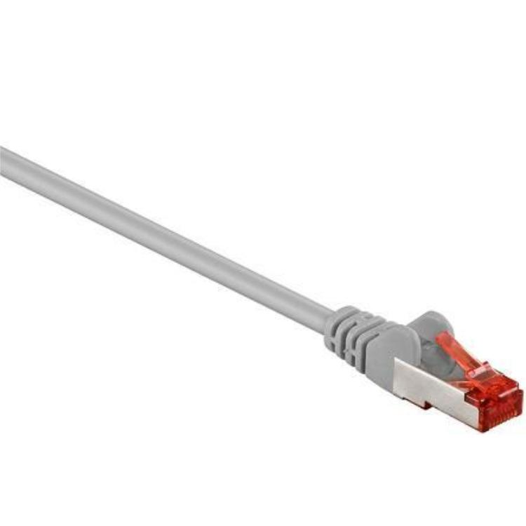 Image of Goobay RJ45 Netwerk Aansluitkabel CAT 6 S/FTP 0.15 m Grijs Vergulde steekcontacten
