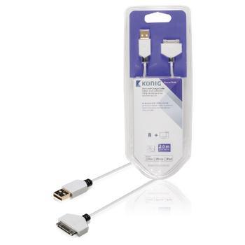Sync und Charge Kabel 30-Pins dock-Stecker USB 2.0 eine männlich 2,