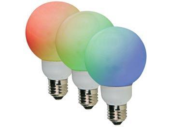 Image of RGB- LEDLAMP - E27 - 20 LEDS - Ø 60mm - Velleman