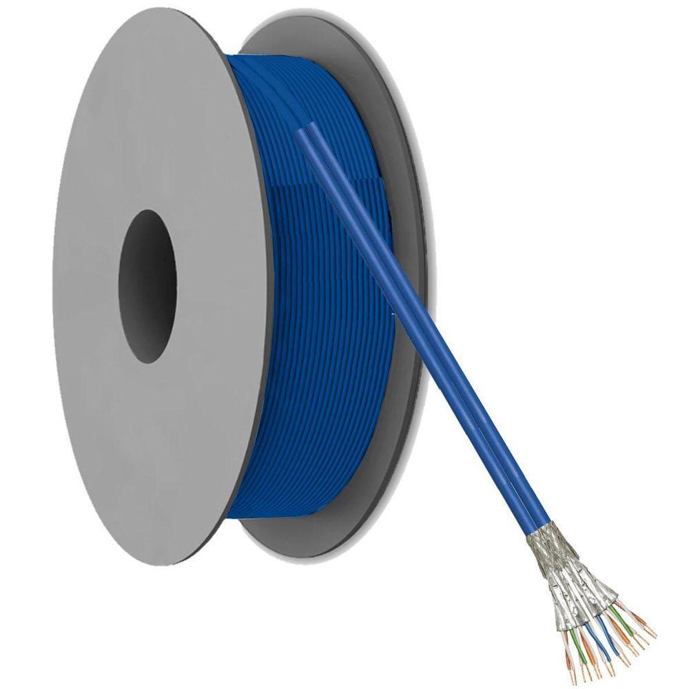 Image of Netwerkkabel op rol - 100 meter - Blauw - Quality4All