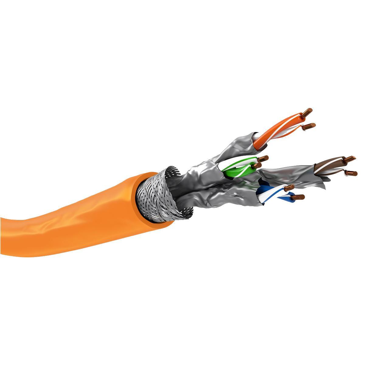 Image of Netwerkkabel op rol - 100 meter - oranje - Quality4All