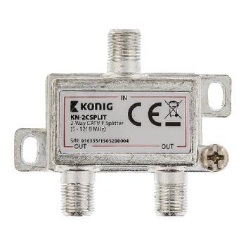 2-wegs CATV F-splitter 5 1218 MHz König