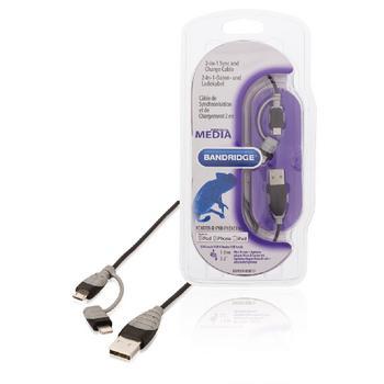 2-in-1 synchronisieren und aufladen Kabel USB 2.0 A Stecker Micro B