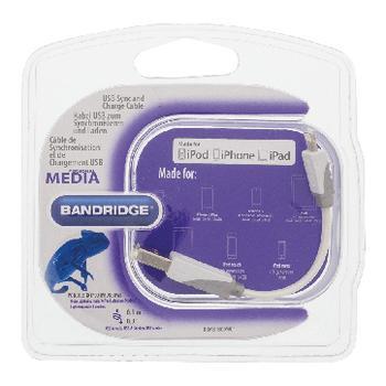 USB Sync und Charge-Kabel USB-A männlich 8-Pins Blitz männlich 0,1