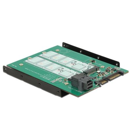 Image of 22-Polig SATA + 36-Polig SFF-8643 naar M.2 NGFF adapter - Delock