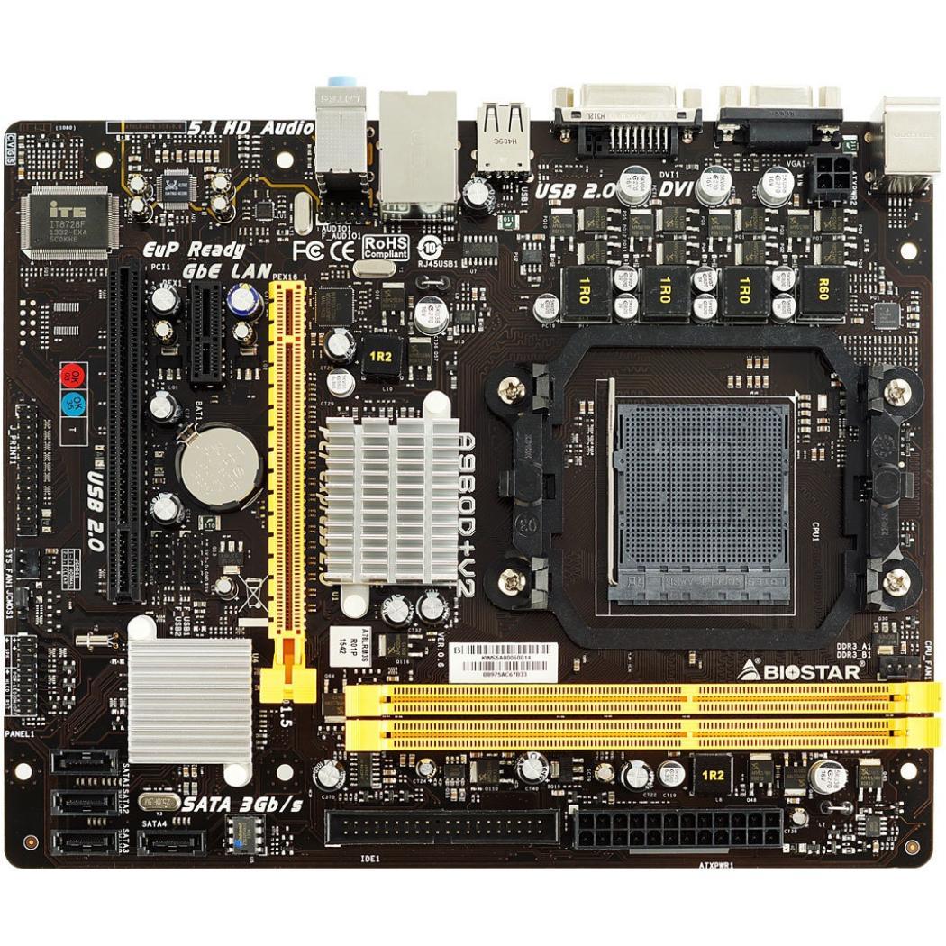 Image of Biostar A960D+ V2 AMD 890GX Socket AM3+ Micro ATX moederbord