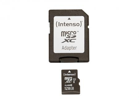 Intenso 128 GB microSDXC-kaart Class 10, UHS-I incl. SD-adapter
