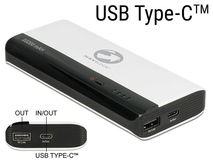 Powerbank 10200 mAh 1 x USB Typ-A Buchse, 1 x USB Type-C™ Buchse N