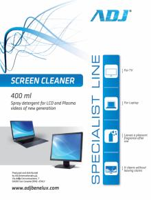 Image of ADJ 100-00024 Screen Cleaner [Spray, 400ML] - ADJ