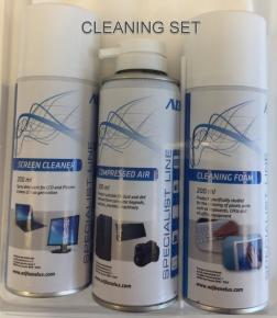 Image of ADJ 100-00029 Cleaning Set [Screen/Air/Foam, 3x 200ML, 5x wipes] - ADJ