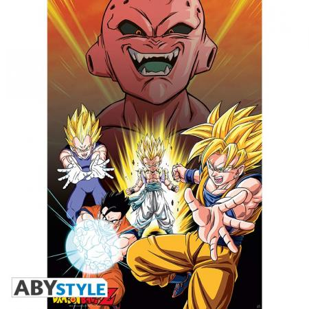 Image of Dragon Ball Z Poster Buu Vs Saiyans - Dragon Ball