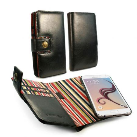 Image of Alston Craig Genuine Vintage Leather Magnetic Wallet Case Cover for Sa