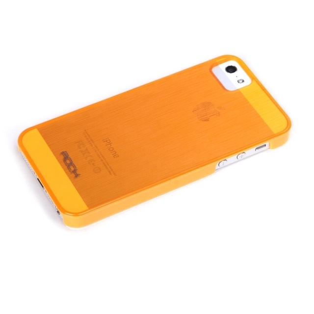 Rock Texture Semi Transparent Case Apple iPhone 5/5S/SE Orange