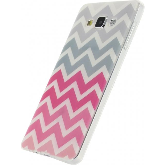 Xccess TPU Case Samsung Galaxy A7 Wave Pink/Grey Xccess TPU Case Samsung Galaxy A7 Wave Pink/Grey