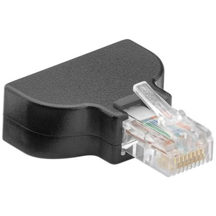 Terminal Block 8-pin > RJ45 male (8P8C)<br>screw fixing Goobay Terminal Block 8-pin > RJ45 male (8P8C), Dust protection Bag - screw fixingfor fast wiring with stripped cable endscan be used for DIY, alarm technology, in the AV field or test setupscontact pitch: 3.5 mm