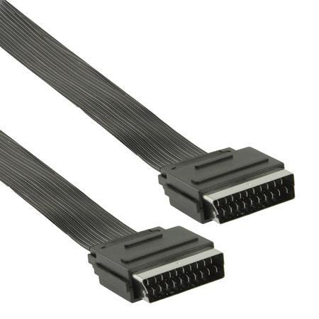 Platte scart kabel 2.5 meter