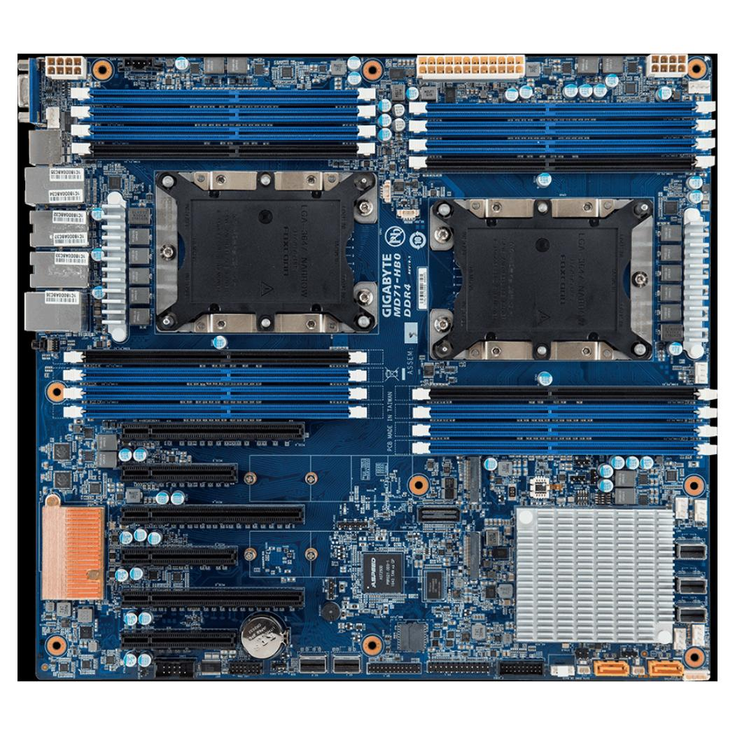 Gigabyte Mainboard MD71-HB0 Purley C622 DP - GAD71HB0MR-00-G11B Gigabyte Mainboard MD71-HB0 Purley C622 DP