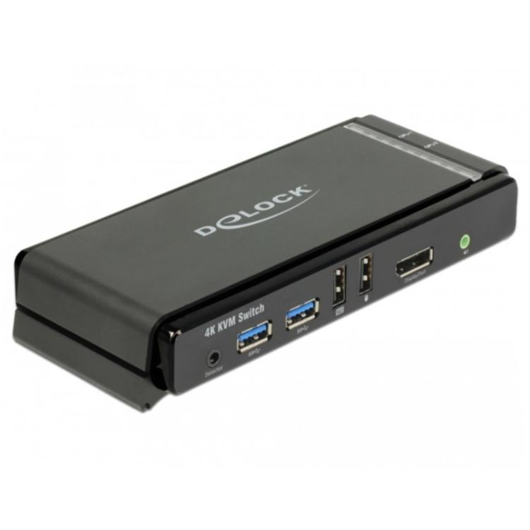 Delock DisplayPort 1.2 KVM Switch 4K 60 Hz mit USB 3.0 und Audio Displayport