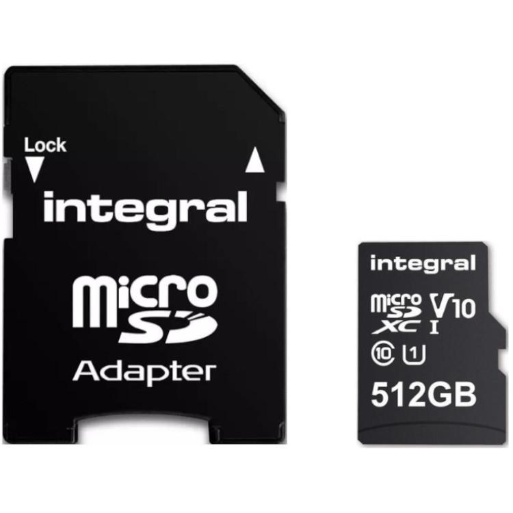 Micro SD kaart 512 GB Integral