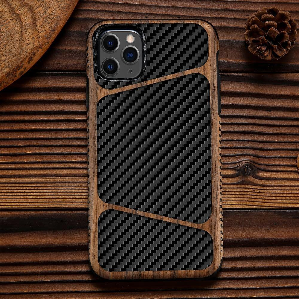 iPhone 11 Pro Max - Backcover - Carbon Wood