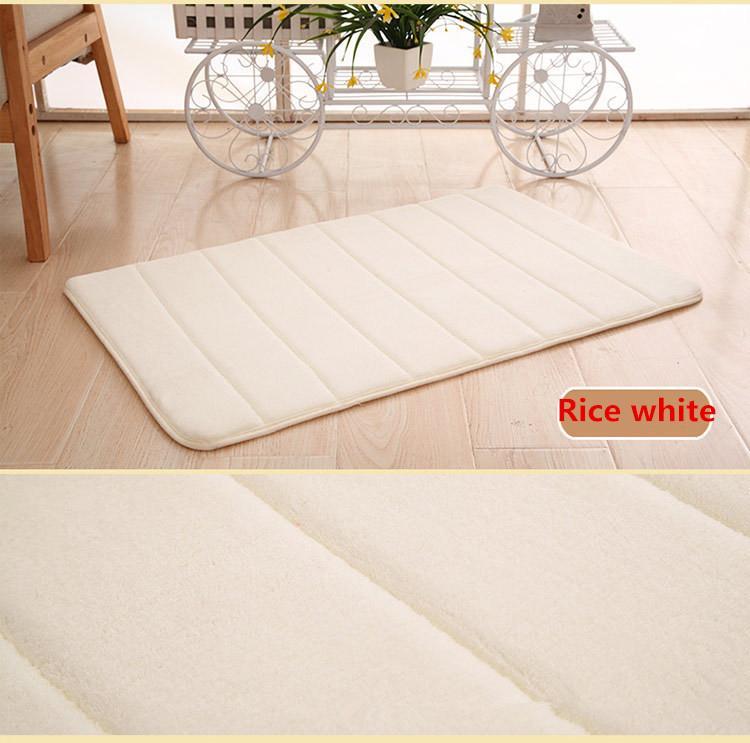 Badmat met antislip Rice white Able & Borret