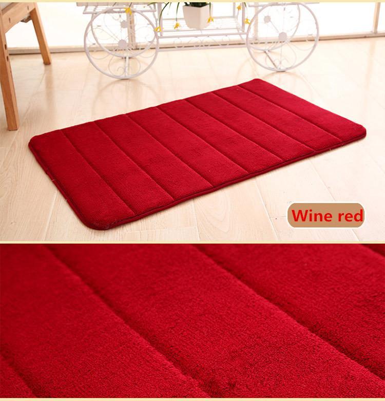 Badmat met antislip Wine red Able & Borret