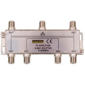 Image of CATV-Splitter 10 DB / 5-1000 MHz - 6 Uitgangen