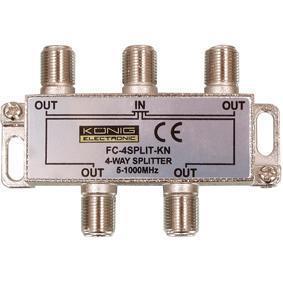 Image of CATV-Splitter 8.0 DB / 5-1000 MHz - 4 Uitgangen